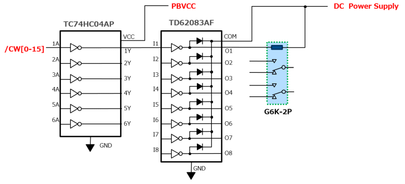 how to control the relays which require a coil current exceeding the output current of   cw
